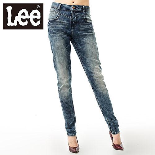 Lee 牛仔褲439 中腰 修身窄管~女款^(雪花中藍^) LL120515247