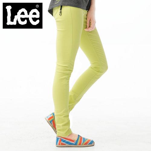 Lee 牛仔褲 419 低腰貼身窄管~女款 螢光黃