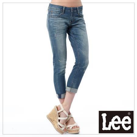 Lee 牛仔褲 329低腰合身窄管-女款(二手藍)
