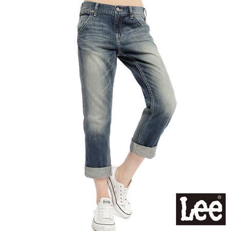 Lee 牛仔褲 401Boy friend標準窄管牛仔褲 -女款(中古藍)