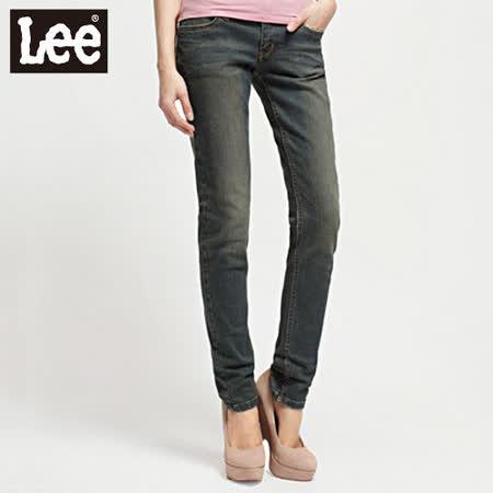 Lee 牛仔褲403 超低腰合身窄管牛仔褲 -女款(二手中淺藍)