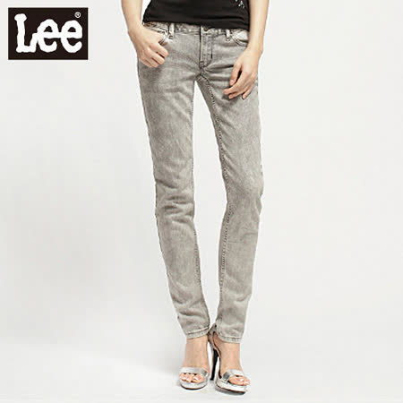 Lee 牛仔褲403 超低腰合身窄管牛仔褲 -女款(雪花灰)