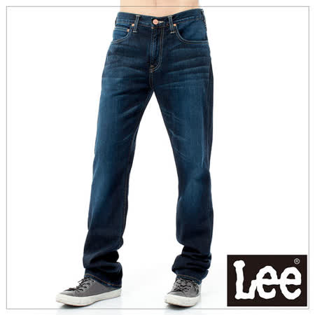 Lee牛仔褲 743 中腰舒適小直筒-男款(藍)