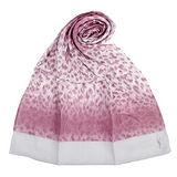 YSL 法式漸層豹紋薄棉抗UV圍巾-紫紅色