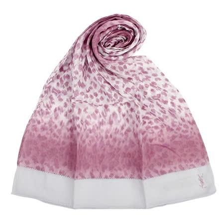 【好物推薦】gohappy線上購物YSL 法式漸層豹紋薄棉抗UV圍巾-紫紅色推薦sogo 活動