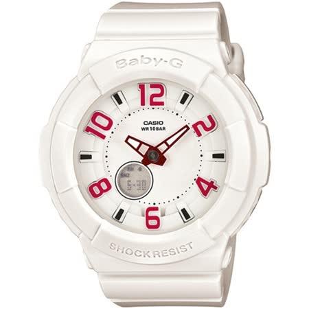 CASIO BABY-G BGA-133霓虹照明系列女錶-白