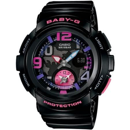 CASIO BABY-G BGA-190海灘旅行系列女錶-黑