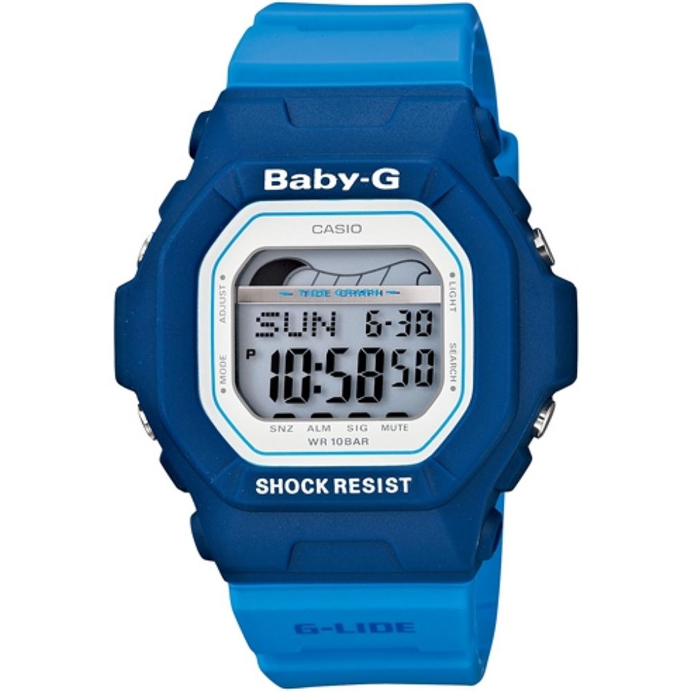 CASIO BABY~G BLX~5600衝浪女孩系列女錶~藍