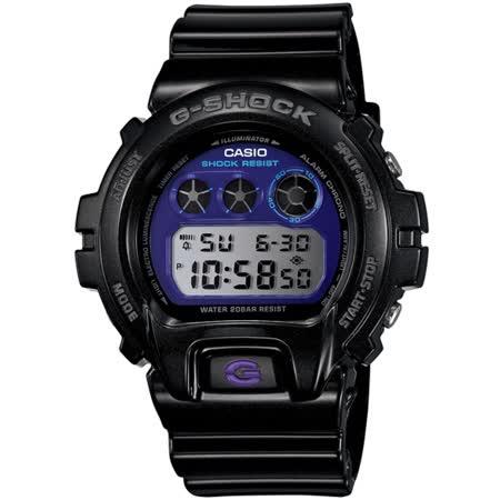 CASIO G-SHOCK DW-6900煙燻金屬系列腕錶-黑