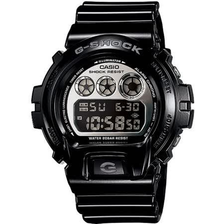 CASIO G-SHOCK DW-6900華麗搖滾數位腕錶-黑