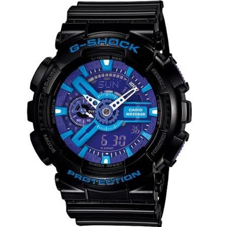 CASIO G-SHOCK GA-110HC系列腕錶-藍/黑