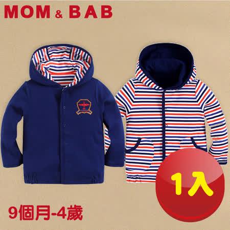 (購物車)【MOM AND BAB】戰鬥飛機純棉小外套 一件兩面穿(9M-4T)