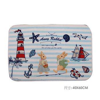 安妮兔 珊瑚絨趣味地毯 087Y-127