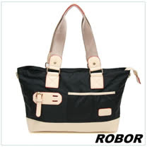 韓系型男 ROBOR韓版休閒百搭中性尼龍側背包旅行包(黑色)