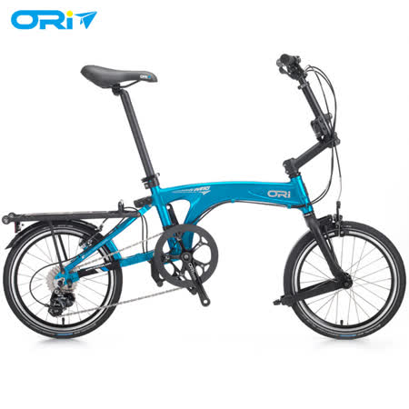 ORI M10 16吋10速鋁合金折疊單車(含後貨架)-陽極噴沙藍