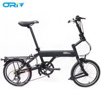 ORI C8 ECO 16吋8速鋁合金折疊單車(含後貨架)-陽極噴沙黑