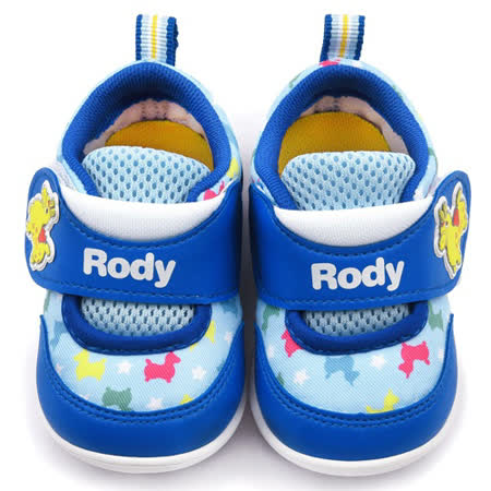 童鞋城堡-RODY跳跳馬 小童 可愛塗鴉寶寶鞋RD7409-藍