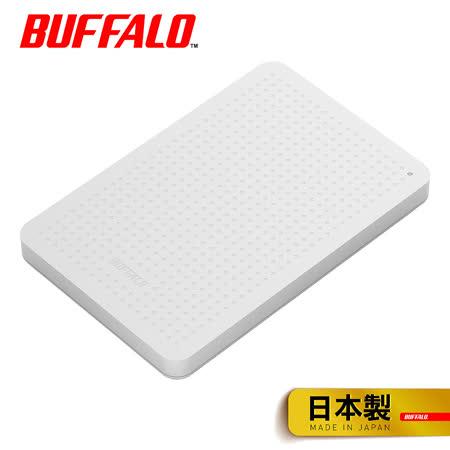 BUFFALO USB 3.0 1TB 2.5吋行動硬碟 (HD-PCF1.0U3BW-白)