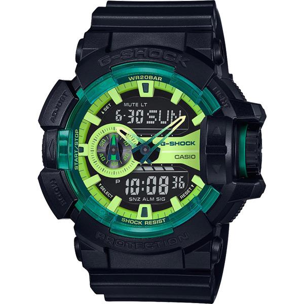 CASIO 卡西歐 G~SHOCK 萊姆綠系列電子錶~黑52mm GA~400LY~1AD