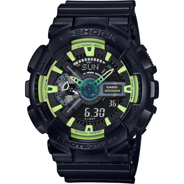 CASIO 卡西歐 G~SHOCK 萊姆綠系列電子錶~黑51mm GA~110LY~1AD