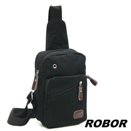 韓系型男 ROBOR原宿風帆布包單肩包單車包(黑色)