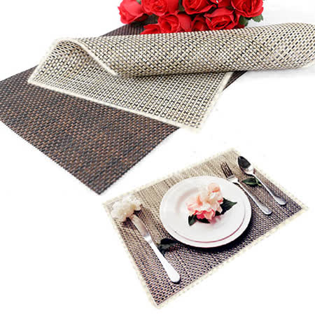 仿竹編織有邊桌墊/餐墊-6入(EZ-TB2)