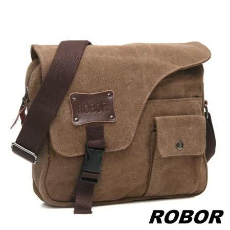 韓系型男 ROBOR終極型男休閒包/側背/斜背包(棕色)