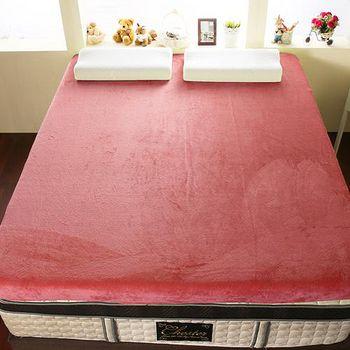 契斯特 12公分幸福舒適透氣記憶床墊 加大6尺-玫果紅