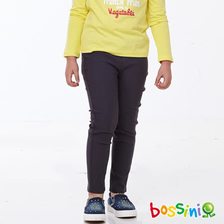 bossini女童-超彈窄管褲04岩石色