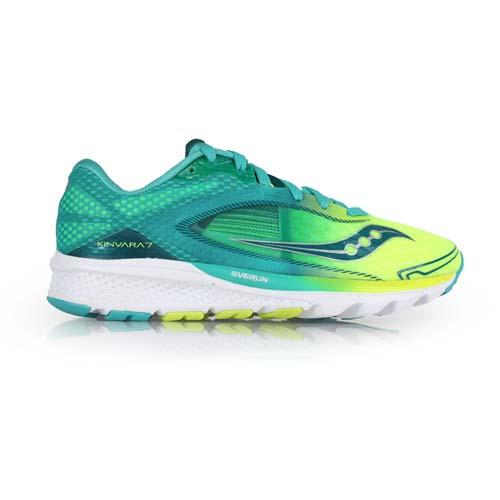 ^(女^) SAUCONY KINVARA 7 自然系列慢跑鞋~ 路跑 索康尼 湖水綠螢光