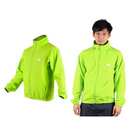 (男) MJ3 平織單層風衣-慢跑 防風外套 運動外套 螢光綠
