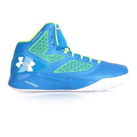 (男) UNDER ARMOUR UA CLUTCHFITDRIVE2籃球鞋- 健身 藍螢光綠白