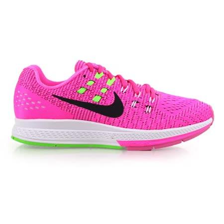 (女) NIKE AIR ZOOM STRUCTURE 19 慢跑鞋- 路跑 耐吉 螢光粉綠