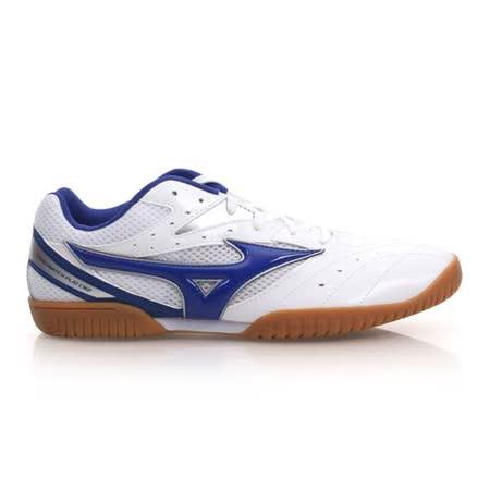 (男) MIZUNO CROSSMATCH PLIO CN2 桌球鞋- 美津濃 白藍