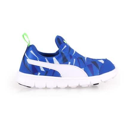 (童) PUMA BAO SLIPON GRAPHIC KIDS男女慢跑鞋-休閒 藍綠白