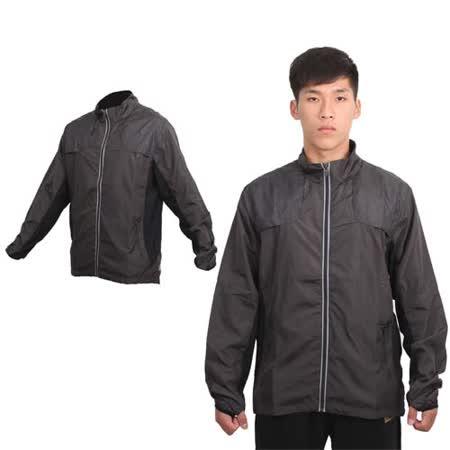 (男) MJ3 風衣外套-慢跑 路跑 休閒外套 深灰