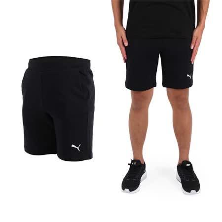 (男) PUMA 素色9吋短褲-慢跑 路跑 健身 訓練 黑白