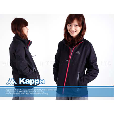 (女) KAPPA 防風防水外套-第七代鯊魚夾克 黑 M