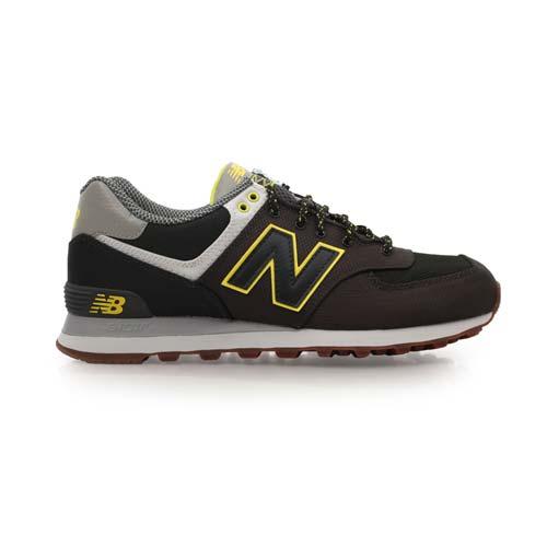 ^(男^) NEWBALANCE 574系列 復古休閒鞋~ NB N字鞋 墨綠黃