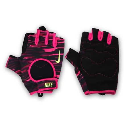(女) NIKE 用訓練手套-重訓 重量訓練 健身 桃紅黑 L