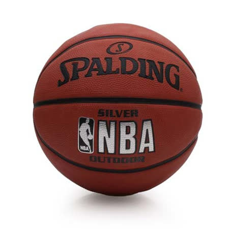 SPALDING NBA-RUBBER 籃球-6號球 室外球 斯伯丁 橘黑 F