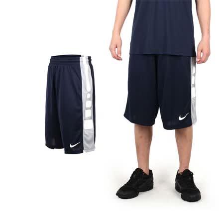 (男) NIKE 運動短褲-針織 籃球短褲 慢跑 路跑 丈青白 XL