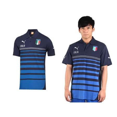 (男) PUMA 短袖POLO衫- 短袖T恤 世界盃足球賽 義大利 丈青藍 XS
