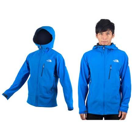 (男) THE NORTH FACE APEX 運動外套- 風衣外套 連帽外套 天藍 L