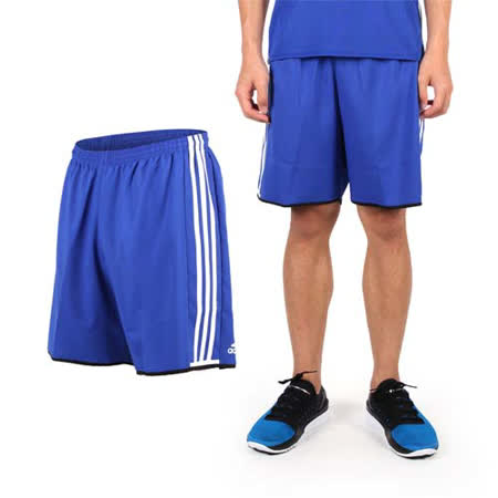 (男) ADIDAS 運動短褲-愛迪達 慢跑 路跑 休閒短褲 健身 藍白