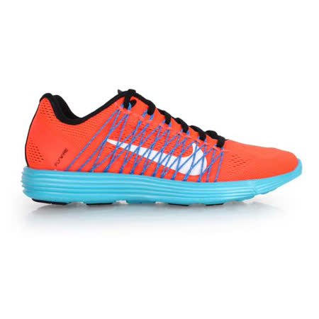 (女) NIKE LUNARACER+3 慢跑鞋-路跑 健走 休閒 橘藍