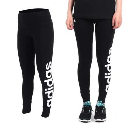 (女) ADIDAS 緊身長褲-愛迪達 內搭褲 慢跑 路跑 瑜珈 運動 休閒 黑白 S
