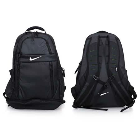 NIKE 菁英後背包-雙肩包 17吋電腦包 旅行 黑白 F