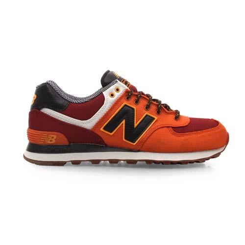 ^(男^) NEWBALANCE 574系列 復古休閒鞋~ NB N字鞋 深橘咖啡 27