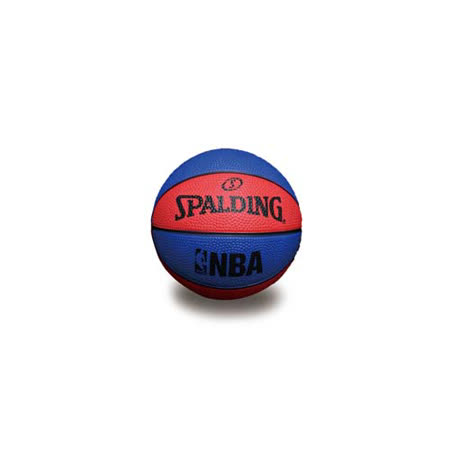 SPALDING NBA 一號籃球 迷你小球-斯伯丁 NBA 戶外 藍紅 F